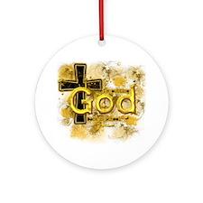 god Round Ornament