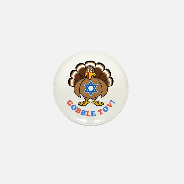 Funny Thanksgiving Hanukkah 2013 [r] Mini Button