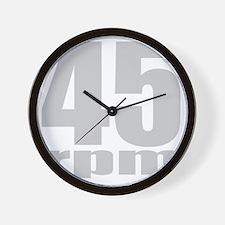 45rpmblk Wall Clock