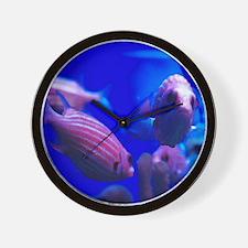 11x11_pillow_water garden_point Wall Clock