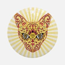 Cool Egyptian style mystic cat Ornament (Round)