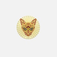 Cool Egyptian style mystic cat Mini Button