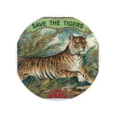 "Save The Tigers 3.5"" Button"