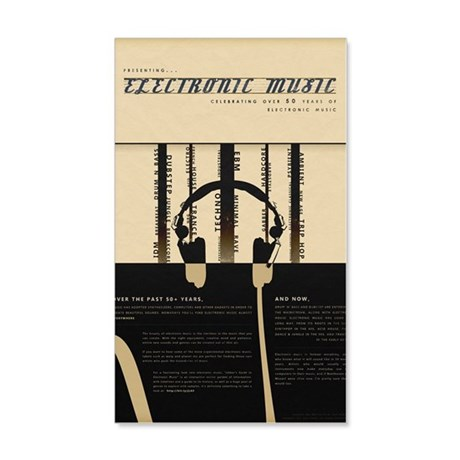 Electronic Music - 50 years in th 20x12 Wall Decal