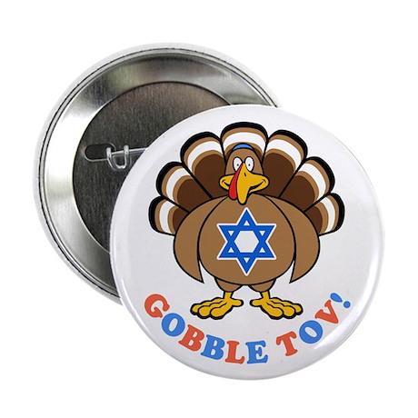 "Funny Thanksgiving Hanukkah 2013 [r] 2.25"" Button"