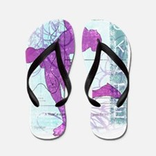 Vector Skater Collage Flip Flops
