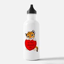 first valentines day t Water Bottle