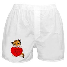 first valentines day tiger Boxer Shorts