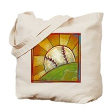 A Great Day for Baseball Tote Bag