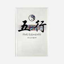 Five Elements Rectangle Magnet