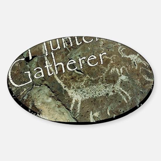 Hunter Gatherer Rock Art Sticker (Oval)