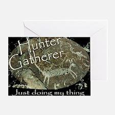 Hunter Gatherer Rock Art Greeting Card