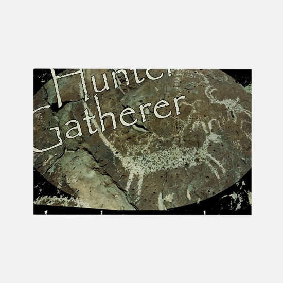 Hunter Gatherer Rock Art Rectangle Magnet