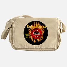Ruby Flames - Hot Hot Hot black logo Messenger Bag
