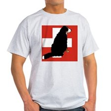 Sitting Bernese Mountain Dog (Swiss) T-Shirt