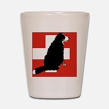 Sitting Bernese Mountain Dog (Swiss)01 Shot Glass