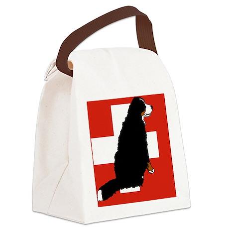 Sitting Bernese Mountain Dog (Swi Canvas Lunch Bag
