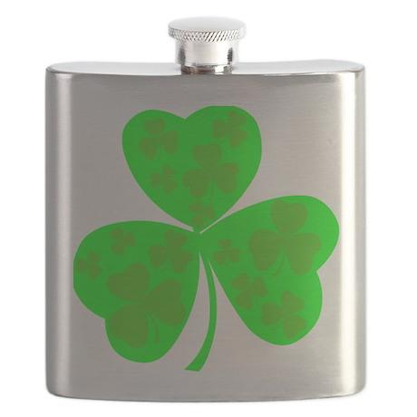 irish clover4 Flask