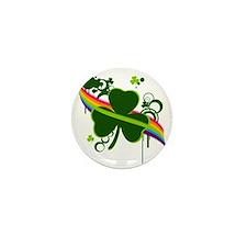 rainbow shamrock copy Mini Button