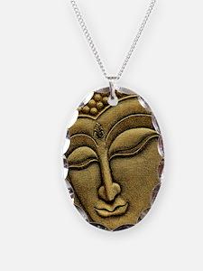 Buddha Necklace Oval Charm