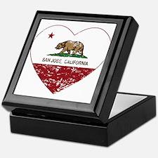 california flag san jose heart distressed Keepsake