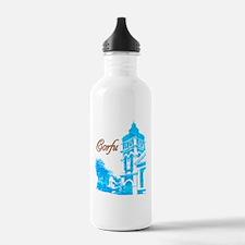 2-corfu_t_shirt_church Water Bottle