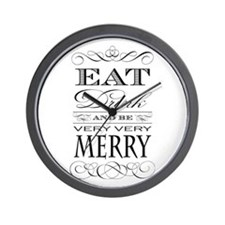 Eat, Drink and Be Merry! Wall Clock
