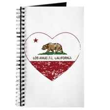 california flag los angeles heart distressed Journ