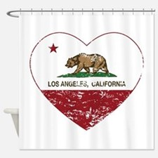 california flag los angeles heart distressed Showe