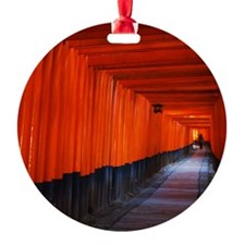 Torii Gates in Kyoto, Japan Ornament