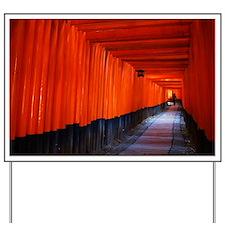 Torii Gates in Kyoto, Japan Yard Sign