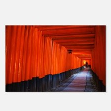 Torii Gates in Kyoto, Jap Postcards (Package of 8)