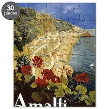 Vintage Amalfi Italy Travel Puzzle
