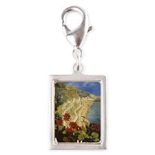 Vintage Amalfi Italy Travel Silver Portrait Charm