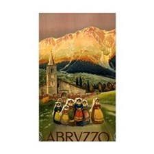 Vintage Abruzzo Italy Travel Decal
