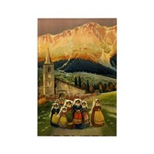 Vintage Abruzzo Italy Travel Rectangle Magnet