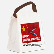 shark-finning-dogs Canvas Lunch Bag