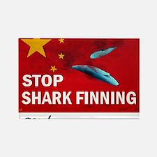 shark-finning-dogs Rectangle Magnet