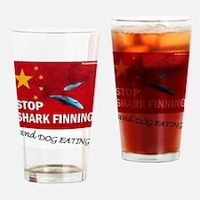 shark-finning-dogs Drinking Glass
