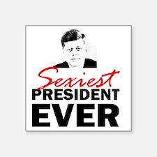 """ART 2 JFK Sexiest Square Sticker 3"""" x 3"""""""