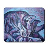 Purple cats Mouse Pads