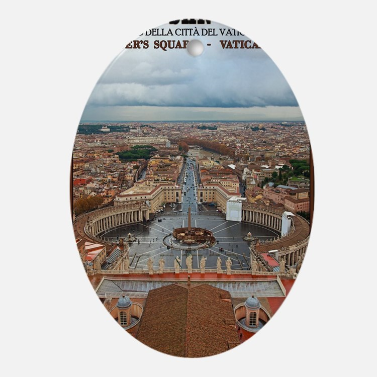 Vatican City - St Peters Square Oval Ornament