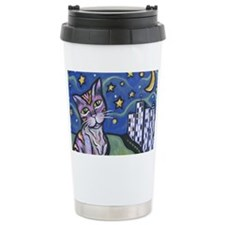 Starry Cat 2 Travel Mug