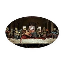 last supper Oval Car Magnet