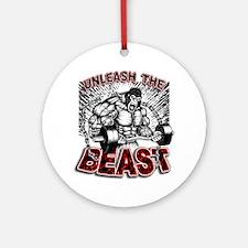Unleash The Beast 2 Round Ornament