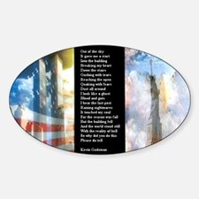 A Poem For 911 WWS Zoomed Sticker (Oval)