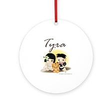tyra Round Ornament