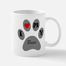 I Heart My Boxer Mugs