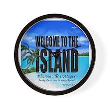 Welcome to the Island Smoke Detectors i Wall Clock