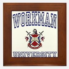 WORKMAN University Framed Tile